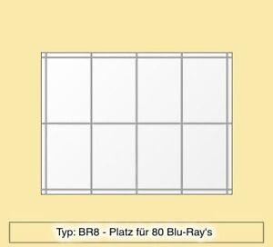 Blu-Ray Regal aus Plexiglas ® für 80 Blu-Ray's - BR8
