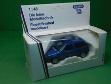 VW Polo Steilheck blau 1:43 Schabak Modell 1000 1001 Modellfahrzeug Modellauto