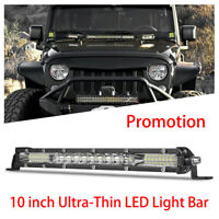 10 inch 78W Ultra-Thin LED Work Light Bar Combo Beam Spot Flood ATV SUV Truck US