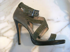 Witchery Sz 40 9 Designer Green Heels Sandals Shoes