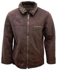 Abrigos y chaquetas de hombre marrón de piel sintética