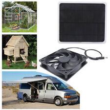 Solar Powered USB Fan Air Vent Mini Ventilator For Greenhouse Pet Chicken House