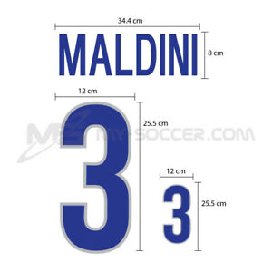 Italy Away World Cup 1998 PU NUMBER FOOTBALL SOCCER PRINT EXCELLENT QUALITY