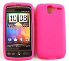 For HTC Desire Rubber Silicone Soft Gel Skin Case Phone Cover Hot Pink