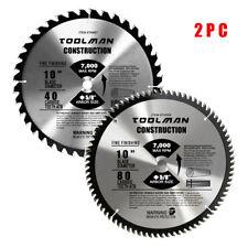 "Circular Saw Blade 10"" 5/8"" 40T & 80T 1 pc for DeWalt & Makita Table Carbide"
