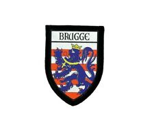 Ecusson brode thermocollant imprime blason patch drapeau ecusson bruges belgique
