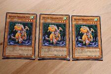 3 x Armed Dragon LV3 SOD-EN013 Common Playset Yugioh Card