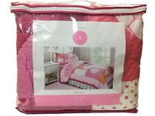 Authentic Kids Girl's Team Spirit 2 Pieces Twin Quilt Sets Pink