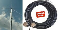 Sirio SD 1300N 25-1300 Mhz Discone Antenna with 25 Ft Coax Cable (N Connector)