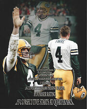 Brett Favre #4 8x10 Unsigned Photo Green Bay Packers