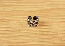 Swirl Circle Spiral Sterling Silver Ear Cuff Earring Mens Womens Antique Style