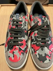 PRADA CAR SHOE CAMOUFLAGE NYLON SNEAKER WITH WITH RUBBER SOLE - NEW WITH BOX