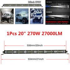 1x 20 In 270W LED Work Light Bar Combo Beam Off road Driving Fog Lamp ATV SUV