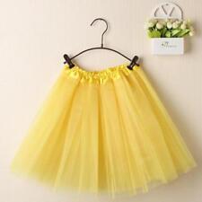 Womens Girls Pleated Gauze Short Skirt Adult Tutu Dancing Mini Ballet Skirt