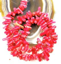 "8-14mm Pink Natural Sea Coral Chip Spacer Beads 15"" (CO181)a FREE SHIPPING"
