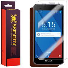 Skinomi Dark Wood Skin & Screen Protector for Blu Dash M2