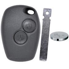 Funk Fernbedienung Schlüssel Gehäuse 2 Tasten VA2 Rohling Dacia Renault Batterie