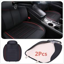 2Pcs PU Leather Breathable Car Chair Cover Full Surround Seat Pad Cushion Mats