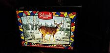 Vintage Schmidt Beer Brewery Buck Deer Box Light Sign Non Motion wildlife