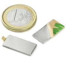 Super Magnete Parallelepipedo in Neodimio AUTOADESIVO 20 x 10 x 1 mm. 900 gr. 3M