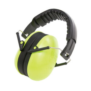 Child's Junior Ear Defenders Earmuffs Green Conforms to EN352-1. Up To 7 Years