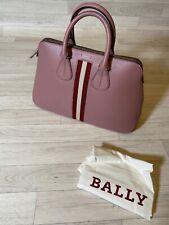 Bally Bag Leather Tote Bag Shopper BALLY Satchel Bucket Bag Nude Pink NEW
