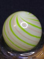 BEAUTIFUL Clambroth w/ Silver Mica/Lutz Handmade Contemporary Marble