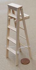 1:12 finitura naturale legno di grandi dimensioni Scala a libretto Casa delle Bambole Accessorio in miniatura 469