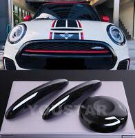AU STOCK PIANO BLACK Door Handle Covers & Petrol Gas Cap MINI F56 F57 Cooper S