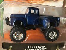 1956 ford f 100 pickup stepside blue 4X4 PICKUP  JUST TRUCKS 1/64  JADA