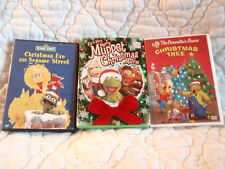 CHRISTMAS 3 DVD LOT EVE ON SESAME STREET BERENSTAIN BEARS TREE VERY MERRY MUPPET