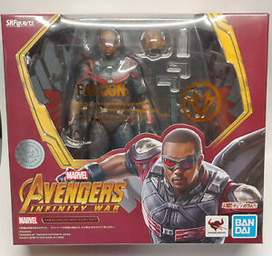 """SH FIGUARTS MARVEL INFINITY WAR FALCON 6"""" ACTION FIGURE AUTHENTIC BANDAI OPENED"""