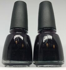China Glaze Nail Polish CRIMSON 987 Dark Plum Purple Creme Lacquer