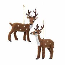Furry Reindeer Ornaments