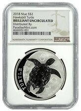 2018 Niue 1oz Silver Hawksbill Turtle NGC Brilliant Uncirculated - Brown Label