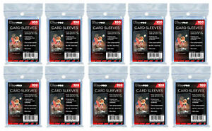 1000 (10 Packs) Ultra Pro Penny Sleeves Sports Cards Soft Standard Size Acid