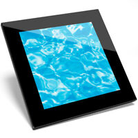1 x Awesome Blue Water Pool Glass Coaster - Kitchen Student Quality Gift #8805
