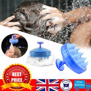 Silicone Shampoo Scalp Shower Washing Hair Massage Massager Body Brush Comb Soft