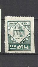 1820H-SELLO GUERRA CIVIL SOBRETASA AVILA 5 CENTIMOS