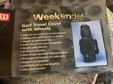 Wilson Deluxe Padded Golf Club Travel Bag Wt Wheels W433 Weekender Shoe Pockets
