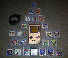 Nintendo Classic Gameboy Lackiert Neues Display Konsole + 3 Spiele zum Aussuchen