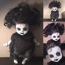 Kindred Creepy Gothic Goth Spirit Horror Ghost Baby Girl Doll Ooak