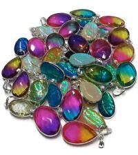 Exclusive Lot !! 100 PCs. Multi Color Opals & Quartz 925 Silver Plated Pendant