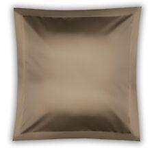 450Thread Count Pima Cotton Square Continental Pillow Case in Walnut 65cm x 65cm