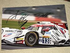 WEC Le Mans 2017 Rebellion Piquet,Prost,Beche,Hansson SIGNED Autograph,Signiert