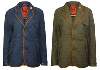 Mens Luxury Quilted Waterproof Jacket With Real Leather Trim , Blazer T109