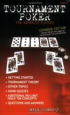 Tournament Poker for Advanced Players, Sklansky, David 9781880685419 New-,
