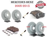 SENSOR NEW Mercedes-Benz W204 C300 C350 E250 SLK GENUINE Front Brake Pad Set