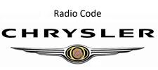 Chrysler Radio Code / Key Code Dodge Jeep Harman Becker Continental Alpine Delph