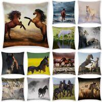 Laufen Pferd Leinen Kissenbezug Home Decoration Kissenhülle Kissen Bezug Hülle